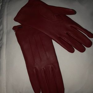Red Leather Coach Clothes